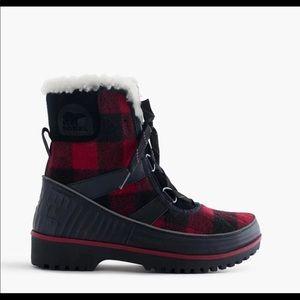 NWT Sorel Winter Boot Buffalo Plaid Tivoli II SZ 7